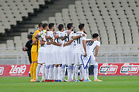 ATHENS, GREECE - OCTOBER 11: Greek team prior to the UEFA Nations League group stage match between Greece and Moldova at OACA Spyros Louis on October 11, 2020 in Athens, Greece. (Photo by MB Media)