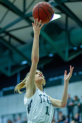 BLOOMINGTON, IL - January 04: Catie Eck during a college women's basketball game between the IWU Titans  and the Millikin Big Blue on January 04 2020 at Shirk Center in Bloomington, IL. (Photo by Alan Look)