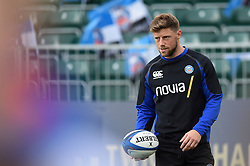 Rhys Priestland of Bath Rugby looks on during the pre-match warm-up - Mandatory byline: Patrick Khachfe/JMP - 07966 386802 - 13/10/2018 - RUGBY UNION - The Recreation Ground - Bath, England - Bath Rugby v Toulouse - Heineken Champions Cup