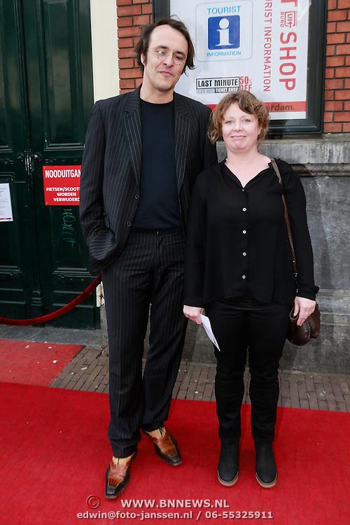 NLD/Amsterdam/20130424- Filmpremiere Boven is het Stil, Nanouk Leopold en partner