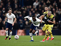 Football - 2019 / 2020 Emirates FA Cup - Fourth Round, Replay: Tottenham Hotspur vs. Southampton<br /> <br /> Tottenham Hotspur's Tanguy Ndombele holds off the challenge from Southampton's Oriol Romeu, at The Tottenham Hotspur Stadium.<br /> <br /> COLORSPORT/ASHLEY WESTERN