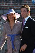 Zijne Hoogheid Prins Floris van Oranje Nassau, van Vollenhoven en mevrouw mr. A.L.A.M. Söhngen zijn donderdag 20 oktober in het stadhuis van Naarden in het burgelijk huwelijk getreden. De prins is de jongste zoon van Prinses Magriet en Pieter van Vollenhoven.<br /> <br /> 20OCT, 2005 - Civil Wedding Prince Floris and Aimée Söhngen. <br /> <br /> Civil Wedding Prince Floris and Aimée Söhngen in Naarden. The Prince is the youngest son of Princess Margriet, Queen Beatrix's sister, and Pieter van Vollenhoven. <br /> <br /> Op de foto / On the photo;<br /> <br /> <br /> Zijne Hoogheid Prins Maurits van Oranje-Nassau, van Vollenhoven en Hare Hoogheid Prinses Marilène van Oranje-Nassau, van Vollenhoven<br /> <br /> His highness prince Maurits van Oranje-Nassau, of Vollenhoven and her highness princess Marilène of Oranje-Nassau, of Vollenhoven