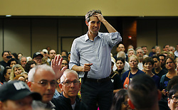 April 30, 2019 - San Diego, CA, USA - Presidential candidate Beto O'Rourke listens to a question during a town hall-style rally at the Jacobs Center for Neighborhood Innovation in San Diego on Tuesday, April 30, 2019. (Credit Image: © TNS via ZUMA Wire)