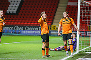 Hull City forward Jarrod Bowen (20) celebratesxc1x  after scoring a goal (1-1) during the EFL Sky Bet Championship match between Charlton Athletic and Hull City at The Valley, London, England on 13 December 2019.