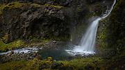 Stekkjarhvammsfoss waterfall is in Sydri-Tungua river in North-Iceland.