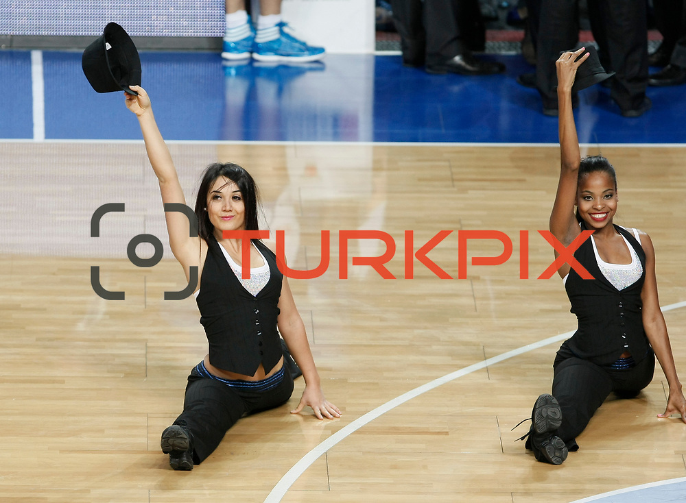 Anadolu Efes's show girls during their Turkish Basketball League match Anadolu Efes between Hacettepe Universitesi at Arena in Istanbul, Turkey, Sunday, November 20, 2011. Photo by TURKPIX
