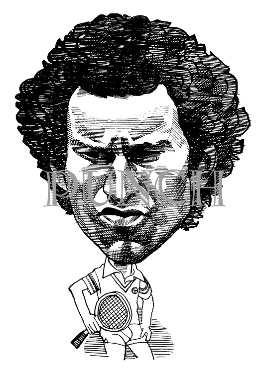 (Caricature of John McEnroe)