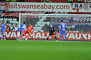 Wales keeper  Boaz Myhill is beaten as Croatia's Eduardo (22) scores his sides winning goal to make it 2-1. FIFA World cup 2014 qualifier, group A , Wales v Croatia at the Liberty Stadium in Swansea, South Wales on Tuesday 26th March 2013. pic by Andrew Orchard, Andrew Orchard sports photography,