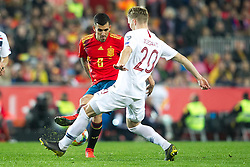 Norway's Martin Odegaard and Spain's Daniel Ceballos during the qualifying match for Euro 2020 on 23th March, 2019 in Valencia, Spain. Photo by Alconada/AlterPhotos/ABACAPRESS.COM