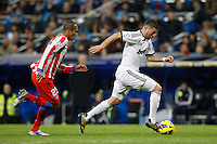 01.12.2012 SPAIN -  La Liga 12/13 Matchday 14th  match played between Real Madrid CF vs  Atletico de Madrid (2-0) at Santiago Bernabeu stadium. The picture show Karim Benzema (French Forward of Real Madrid)
