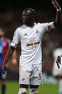 Modou Barrow of Swansea City looks on. Barclays Premier League match, Crystal Palace v Swansea city at Selhurst Park in London on Monday 28th December 2015.<br /> pic by John Patrick Fletcher, Andrew Orchard sports photography.