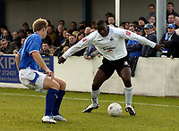 Photo: Olly Greenwood/Sportsbeat Images.<br />Billericay Town v Swansea City. The FA Cup. 10/11/2007. Swansea's Kevin Austin and Billericay's Danny Kerrigan