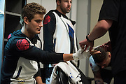 LAS VEGAS, NV - JULY 9:  Sage Northcutt has his hands wrapped in the locker room before UFC 200 at T-Mobile Arena on July 9, 2016 in Las Vegas, Nevada. (Photo by Cooper Neill/Zuffa LLC/Zuffa LLC via Getty Images) *** Local Caption *** Sage Northcutt