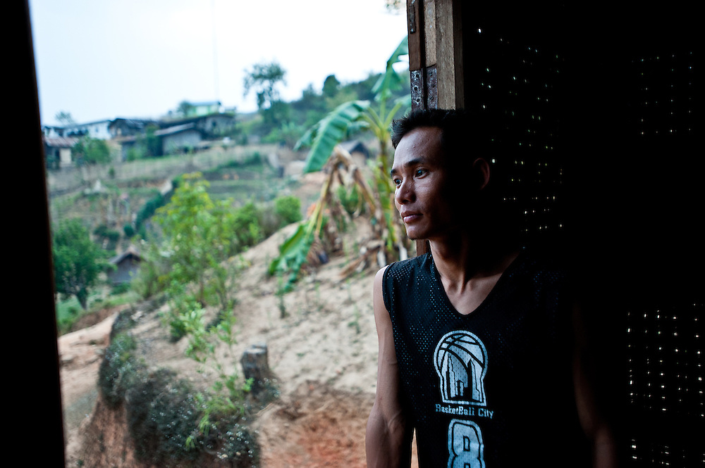 A Baptist minister from the Kachin region at his home in Layshee.