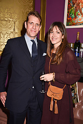 Ben & Mary Clare Elliot at Mark Shand's Adventures and His Cabinet Of Curiosities VIP private view, 32 Portland Place, London, England. 20 February 2018.