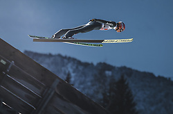 30.12.2018, Schattenbergschanze, Oberstdorf, GER, FIS Weltcup Skisprung, Vierschanzentournee, Oberstdorf, 1. Wertungsdurchgang, im Bild Karl Geiger (GER) // Karl Geiger of Germany during his 1st Competition Jump for the Four Hills Tournament of FIS Ski Jumping World Cup at the Schattenbergschanze in Oberstdorf, Germany on 2018/12/30. EXPA Pictures © 2018, PhotoCredit: EXPA/ JFK
