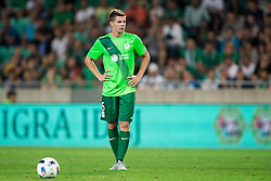 Miha Zajc of NK Olimpija before scoring second goal for Olimpija during 1st Leg football match between NK Olimpija Ljubljana (SLO) and FK AS Trenčin (SVK) in Second Qualifying Round of UEFA Champions League 2016/17, on July 13, 2016 in SRC Stozice, Ljubljana, Slovenia. Photo by Vid Ponikvar / Sportida