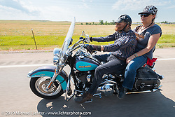 Riding back to Sturgis after the annual Michael Lichter - Sugar Bear Ride hosted by Jay Allen with the Easyriders Saloon during the Sturgis Black Hills Motorcycle Rally. SD, USA. Sunday, August 3, 2014. Photography ©2014 Michael Lichter.