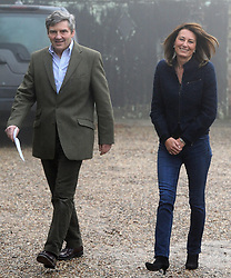 The parents of Kate Middleton, Michael and Carole, makes a statement on the engagement of their daughter to Prince William, outside their home near the Berkshire village of Bucklebury.