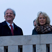 Hungarian president Laszlo Solyom (L) metts Britain's Prince Charles (unseen in the backtround) and his wife Camilla, Duchess of Cornwall (R) visit Budapest, Hungary. Wednesday, 17. March 2010. ATTILA VOLGYI