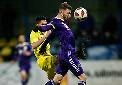 Andraz Kirm of NK Domzale vs Jan Mlakar of NK Maribor during football match between NK Domzale and NK Maribior in 18th Round of Prva liga Telekom Slovenije 2018/19, on November 11, 2018 in Sportni Park, Domzale, Slovenia. Photo by Vid Ponikvar / Sportida