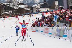 February 24, 2019 - Seefeld In Tirol, AUSTRIA - 190224 Johannes Høsflot Klæbo of Norway celebrates as he competes in men's team sprint final during the FIS Nordic World Ski Championships on February 24, 2019 in Seefeld in Tirol..Photo: Joel Marklund / BILDBYRÃ…N / kod JM / 87889 (Credit Image: © Joel Marklund/Bildbyran via ZUMA Press)