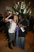 """Michelle Collins and Sharone D. Clarke, Bell and Langlands """"Superactivei2i"""" Somersett House. London. 6 September 2007. .-DO NOT ARCHIVE-© Copyright Photograph by Dafydd Jones. 248 Clapham Rd. London SW9 0PZ. Tel 0207 820 0771. www.dafjones.com."""