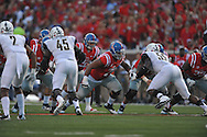 Mississippi Rebels offensive lineman Javon Patterson (79) against Vanderbilt Commodores at Vaught-Hemingway Stadium at Ole Miss in Oxford, Miss. on Saturday, September 26, 2015. (AP Photo/Oxford Eagle, Bruce Newman)