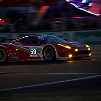 #59 Ferrari 458, Luxury Racing, Drivers: Makowiecki/Melo/Farnbacher, Class: GTE Pro, Le Mans 24H, 2012