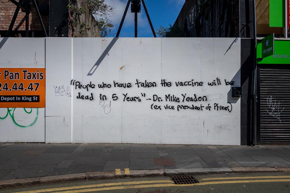 Anti-vax mural Belfast, NI, 2021