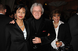 LADY SHAKIRA CAINE and LESLIE & YVONNE BRICUSSE at a party to celebrate the publication of Michael Winner's new book 'Fat Pig Diet' held at The Belvedere, Holland Park, London on 17th October 2007.<br />