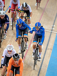January 26, 2019 - Hong Kong, Hong Kong SAR, China - The Italian team.Women's Madison 20km race.UCI Track Cycling World Cup Hong Kong 2019, Qualifiers Leg VI at the Hong Kong Velodrome in Tseung Kwan O ,Kowloon (Credit Image: © Jayne Russell/ZUMA Wire)