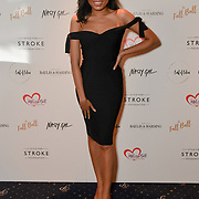 Dionne Bromfield attends gala dinner and concert to raise money and awareness for the Melissa Bell Foundation and Style For Stroke Foundation.