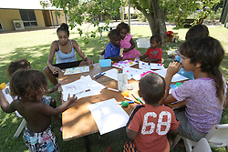 Our Playscheme program is for socially isolated and marginalised children and families, providing the children with structured activities and play experiences as well as providing parents with advice, skills and links to other community services.  The program in Kununurra is held at an outdoor area in the local community, making it easier for parents to bring their children.