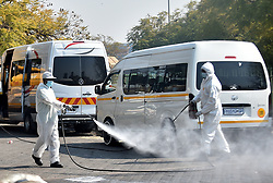 South Africa - Pretoria - 21 July 2020 - Bosman Taxi Rank, one of the largest ranks in Tshwane undergoing intensive cleaning and sanitization during a visit by Gauteng Road and Transport MEC Jacob Mamabolo.<br /> <br /> Picture: Thobile Mathonsi/African News Agency(ANA)
