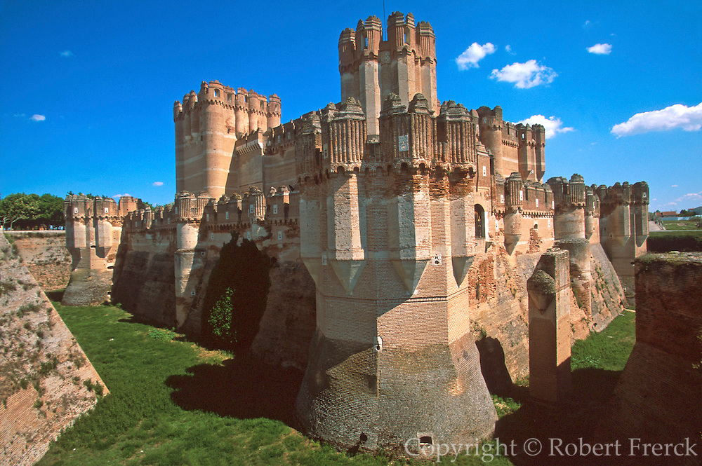 SPAIN, CASTILE  and amp; LEON Coca Castle in 15thc.'Mudejar' style