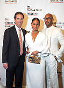 NEW YORK, NEW YORK-JUNE 4: (L-R Peter W. Kunhardt, Jr., Executive Director, The Gordon Parks Foundation, Recording Artist Alicia Keys and Music Producer/Arts Advocate Swizz Beatz aka Kaseem Dean attend the 2019 Gordon Parks Foundation Awards Dinner and Auction Red Carpet celebrating the Arts & Social Justice held at Cipriani 42nd Street on June 4, 2019 in New York City.  (photo by terrence jennings/terrencejennings.com)