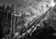 Vernal Falls from the Mist Trail, Yosemite N.P.