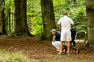 01-09-2016 Golffoto's van het Nationaal Open op de Hilversumsche Golf Club in Hilversum. Finale.  Ralph Miller probeert het nog spannend te maken