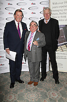 Terry Wogan; Ronnie Corbett; Richard Ingrams, The Oldie of the Year Awards, Simpsons in the Strand London UK, 12 February 2013, (Photo by Richard Goldschmidt)