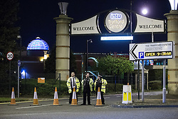 © Licensed to London News Pictures . 09/05/2016 . Manchester , UK . Police forces in the North West of England stage a major terrorist incicent at the Trafford Centre Shopping Centre in Manchester . Police , fire , ambulance and emergency response services from Merseyside and Manchester take part . Photo credit: Joel Goodman/LNP