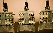 Bronze Zuo Bells from the Zhou Dynasty in the Shaanxi History Museum, Xian, China