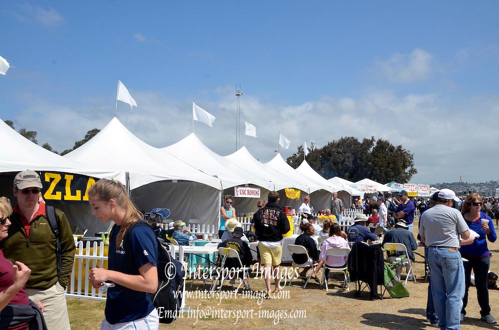San Diego, California. USA,   2013 San Diego Crew Classic, Mission Bay.  General View, GV, Alumni Tents. 11:25:01   Saturday  06/04/2013  [Mandatory Credit. Karon Phillips/Intersport Images]..