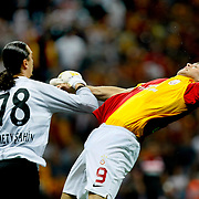Galatasaray's Johan ELMANDER (R) during their Turkish Super League soccer match Galatasaray between Samsunspor at the Turk Telekom Arena at Seyrantepe in Istanbul Turkey on Sunday, 18 September 2011. Photo by TURKPIX
