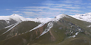 Turkey, Pontic Mountains range, panorama of snow covered peaks