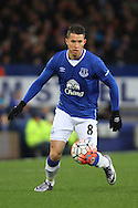 Bryan Oviedo of Everton in action. The Emirates FA cup, 3rd round match, Everton v Dagenham & Redbridge at Goodison Park in Liverpool on Saturday 9th January 2016.<br /> pic by Chris Stading, Andrew Orchard sports photography.