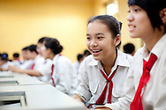 Cheerful facial expression of a vietnamese student, Hanoi, Vietnam, Southeast Asia