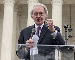 October 6, 2018 - Washington, District of Columbia, U.S. - United States Senator Ed Markey (Democrat of Massachusetts) speaks at the Anti-Kavanagh protest outside the the United States Supreme Court in Washington, DC as the US Senators continue their floor statements across the street inside the US Capitol on Saturday, October 6, 2018. .Credit: Ron Sachs / CNP.RESTRICTION: NO New York or New Jersey Newspapers or newspapers within a 75 mile radius of New York City) (Credit Image: © Ron Sachs/CNP via ZUMA Wire)