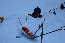 THEMENBILD - Bergrettungsübung Verschuettetensuche nach Lawinenabgang. Hier im Bild Mitglieder der Bergrettung Kals proben den Ernstfall. Ortung, Bergung, Wiederbelebung und Abtransport der Verschütteten hat Priorität. Die kommende Schönwetterlage nach den heftigen Schneefällen machen das Thema Lawinenabgang hochaktuell. Aufgenommen am 2. Februar 2019 in Kals am Großglockner // Mountain Rescue Exercise Avalanche Departure. In the picture members of the Kals Mountain Rescue rehearse the emergency case. Locating, salvaging and resuscitating the victims is a priority. The upcoming fair weather situation after the heavy snowfall makes the topic avalanche departure highly topical. Pictured in Kals am Großglockner, Österreich on 2019/02/02. EXPA Pictures © 2019, PhotoCredit: EXPA/ Peter Gruber