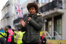 Presenter Radzi Chinyanganya during the 2019 London Landmarks Half Marathon.
